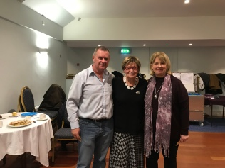 George Hayes and Deirdre Walsh with the President Fran McCarthy